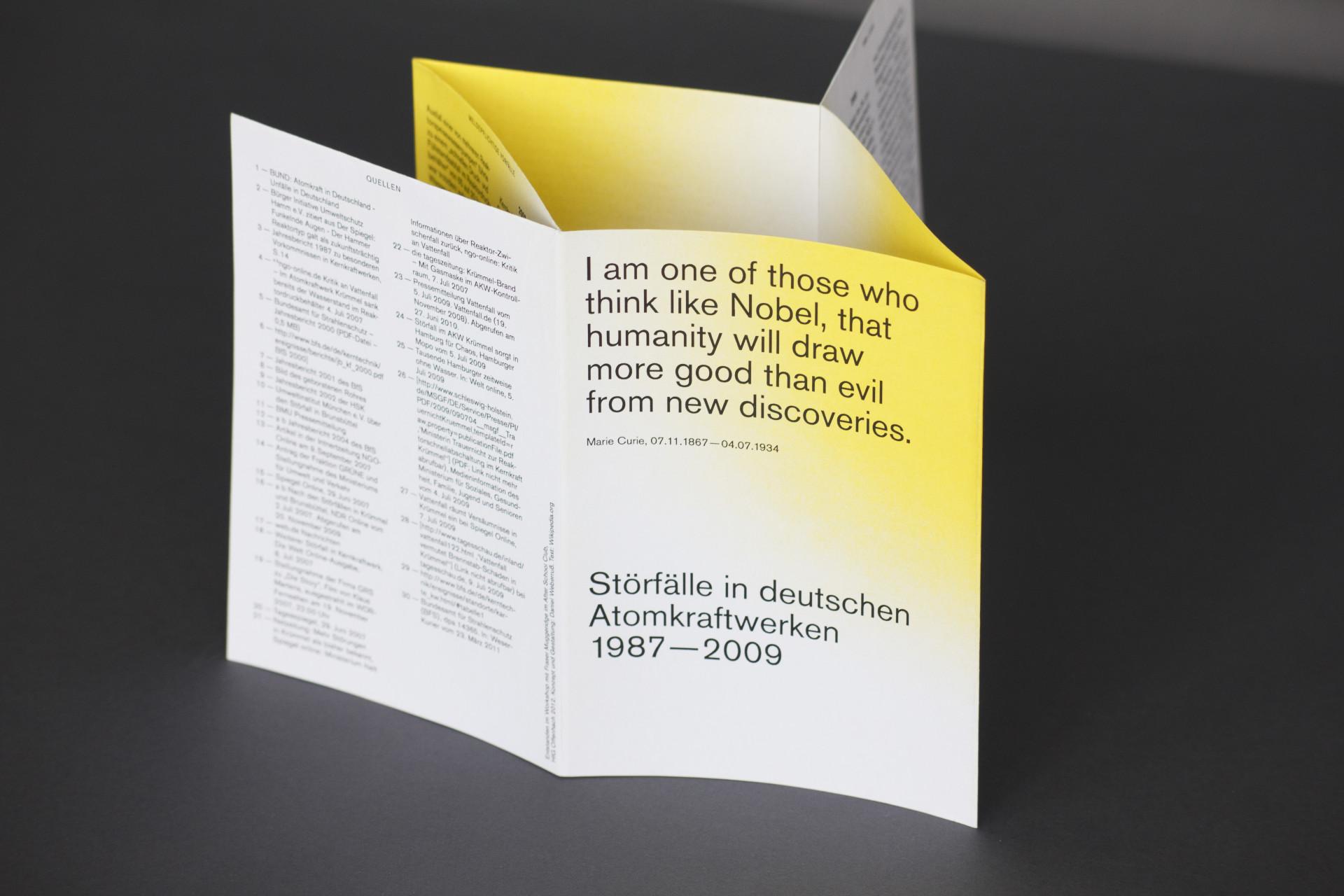 Daniel Weberruß • Design & Art Direction, Frankfurt a. M. Störfälle in deutschen Atomkraftwerken 1987—2009