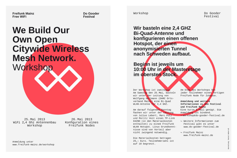 Daniel Weberruß • Design & Art Direction, Frankfurt a. M. Freifunk Mainz